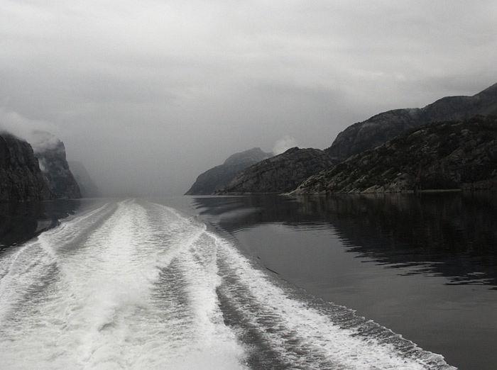 Uma vista do fiorde de Lucey navio turnê.  Foto