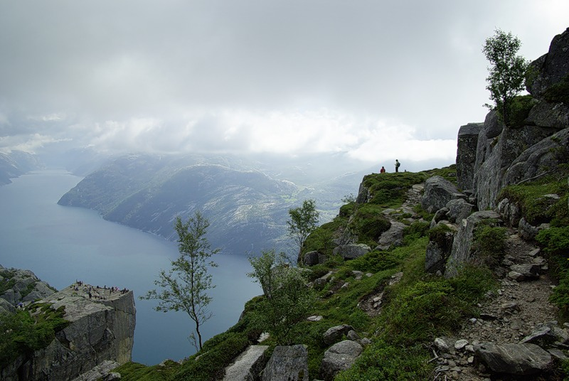 Vista da Pulpit Rock de cima.  foto