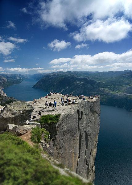 Vista da Pulpit Rock.  foto