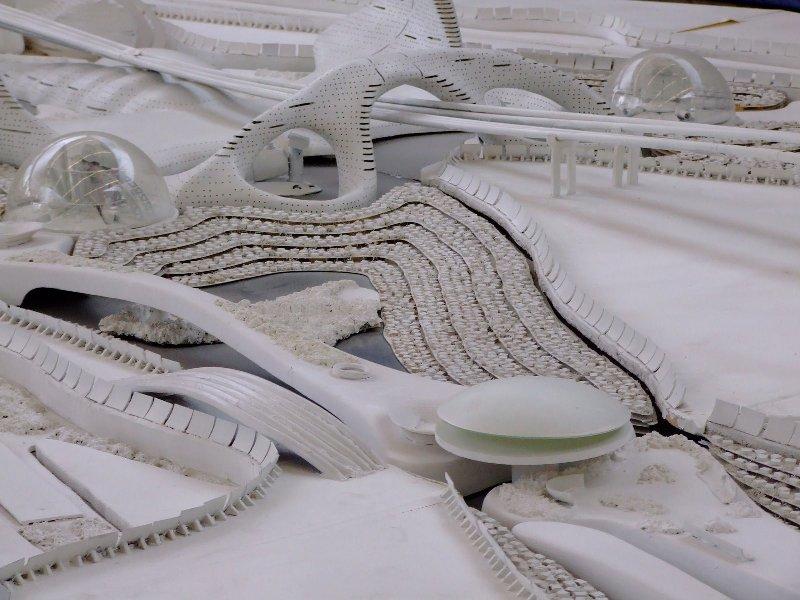 Фрагмент макета Bio-City крупным планом. Фото