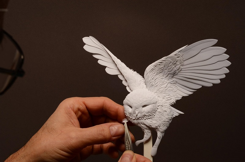 Бумажные скульптуры животных от Кэлвина Николлса. Фото