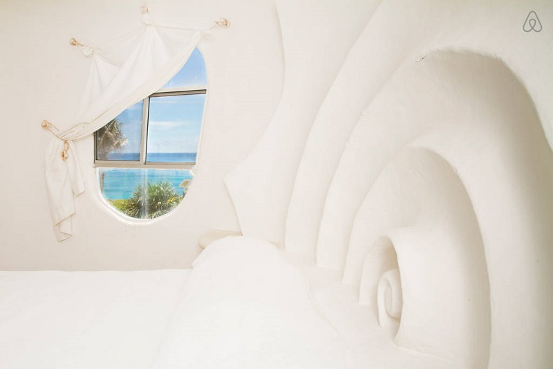 Дом-ракушка на острове Исла-Мухерес, Мексика. Фото
