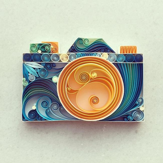 Красочный квиллинг от турецкой художницы Сены Руны. Фото