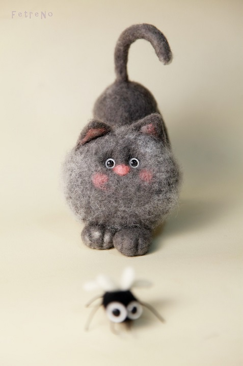 Авторские игрушки из шерсти Кристины Шаблиной. Фото