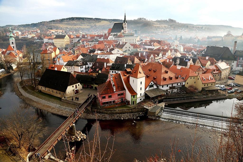 Город Чески-Крумлов, Чехия. Фото дня