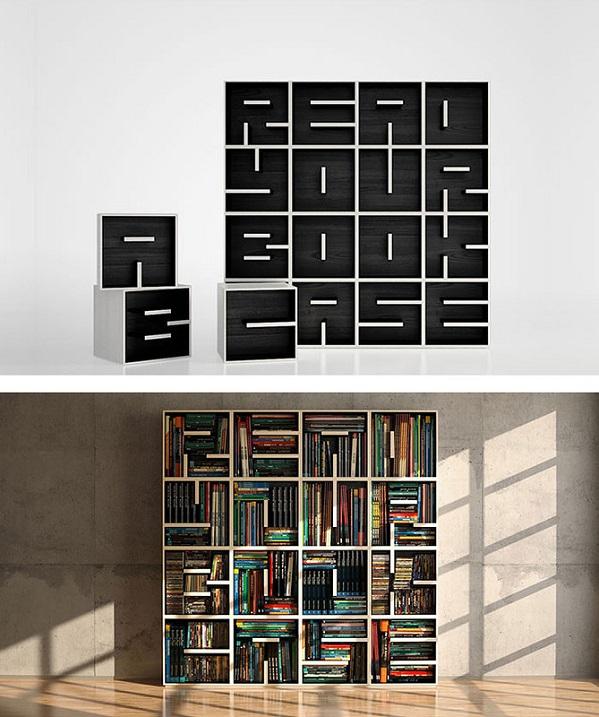 Креативные книжные полки. Фото
