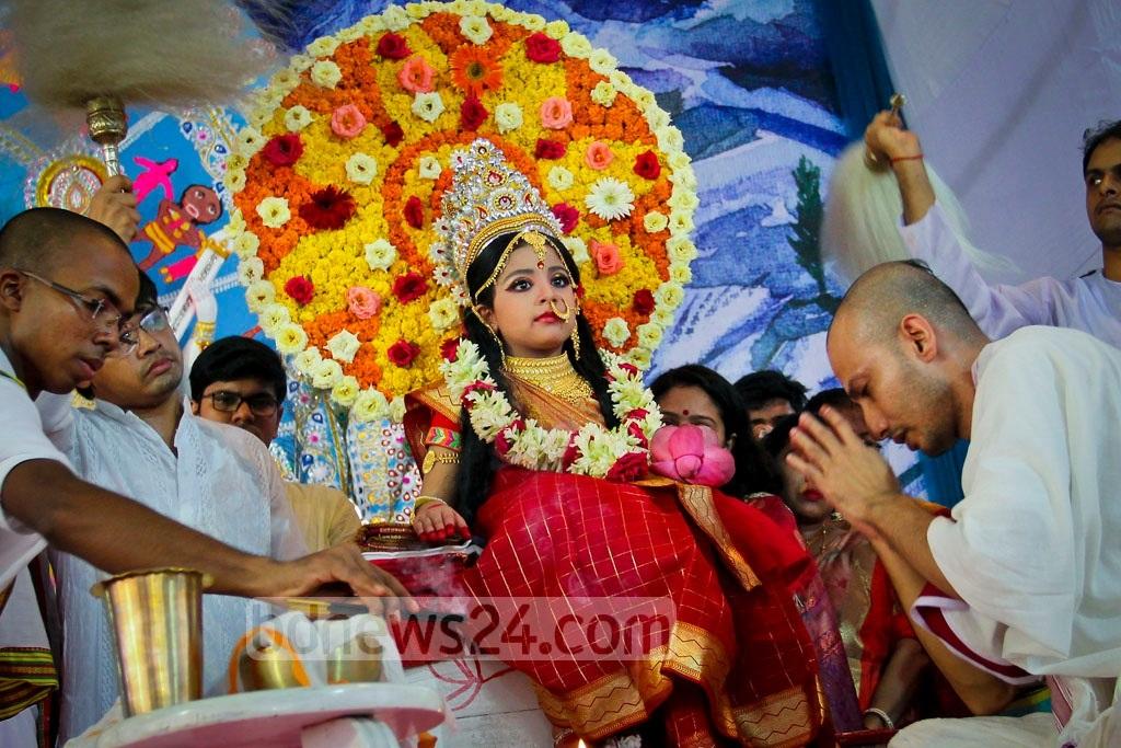 Кумари - живая богиня в Непале и Индии Кумари – живая богиня в Непале и Индии Kumari 20Puja 202017 20 2