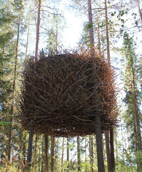 Дом-гнездо на деревьях от студии Inrednin Gsgruppen. Фото