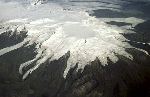 Ледник Ватнайёкюдль. Фото с высоты