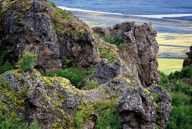 Долина Валахнюкур в Исландии. Фото