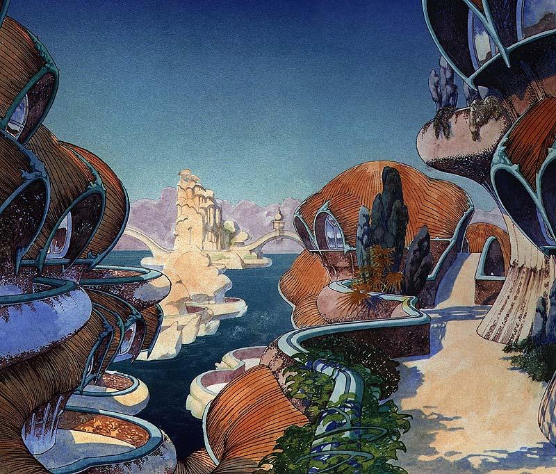 Пузырчатые дома Роджера Дина  / Roger Dean. Bubble House