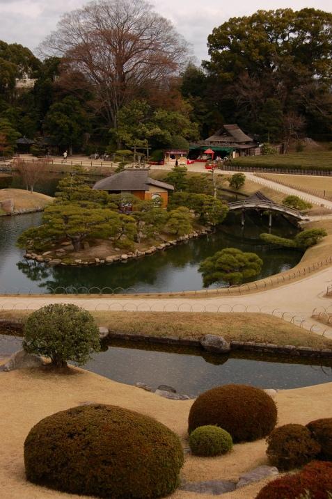 Ландшафтный дизайн японского парка Кераку-эн. Фото