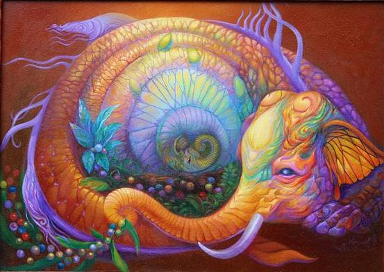 Kris Surajaroenjai - Красивая картина: слон, олицетворяющий собой дух Востока