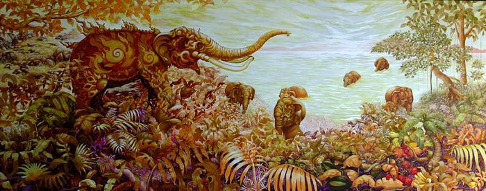 Kris Surajaroenjai - Добро пожаловать в слоновий Рай. Картина