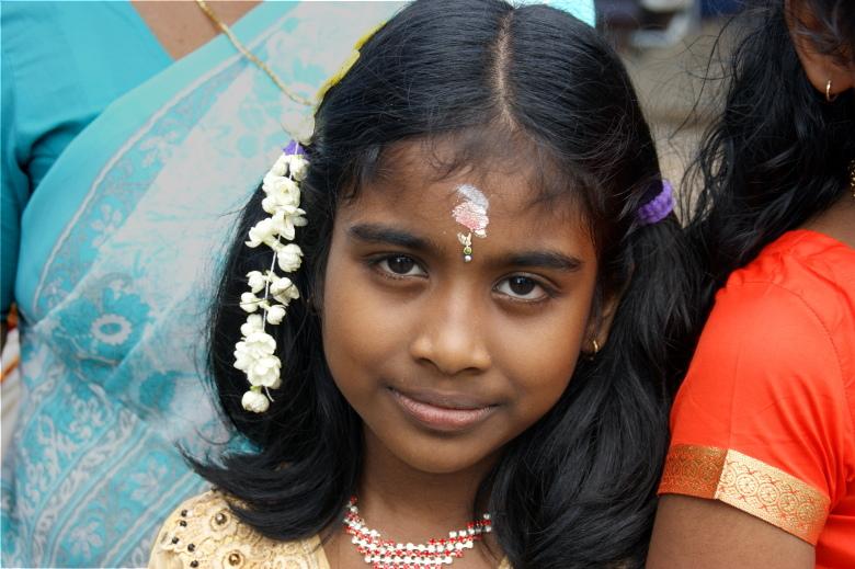 Индия в лицах. Фотопортрет маленькой девочки с Юга Индии