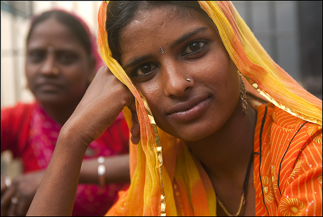 Индия в лицах. Молодая индианка из Удайпура. Фото