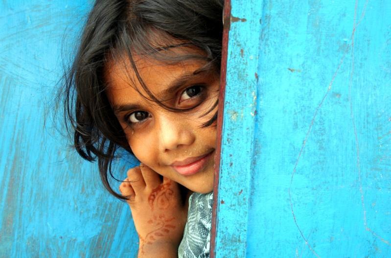 Индия в лицах. Фотопортрет маленькой девочки