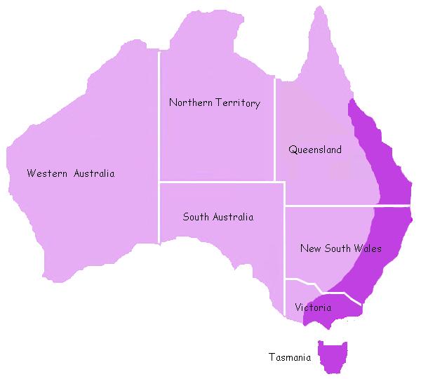 Ареал обитания утконоса