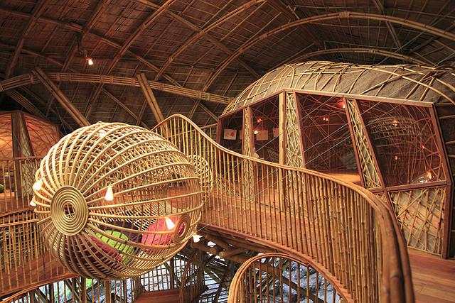 Детская эко-гостиница из бамбука. Таиланд. Фото