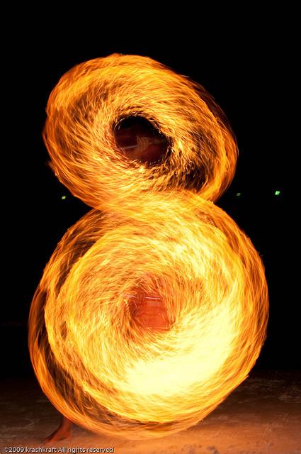 Огненное шоу в Таиланде. Фото