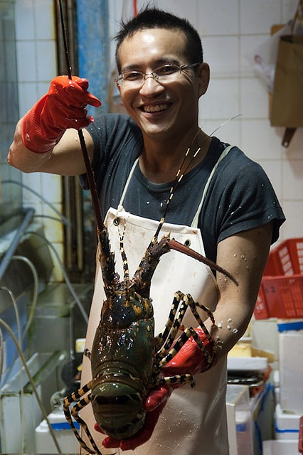 Огромный тайский омар. Фото