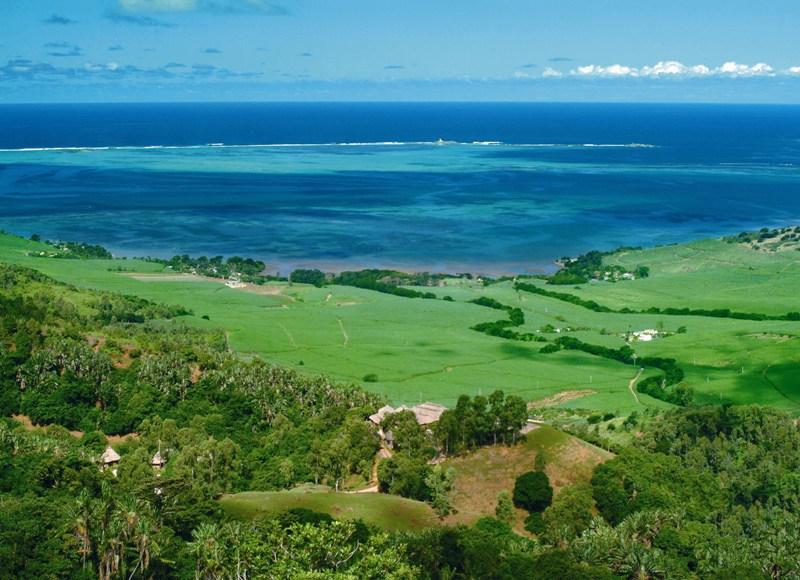 Красоты острова Маврикий. Вид с горы. Фото