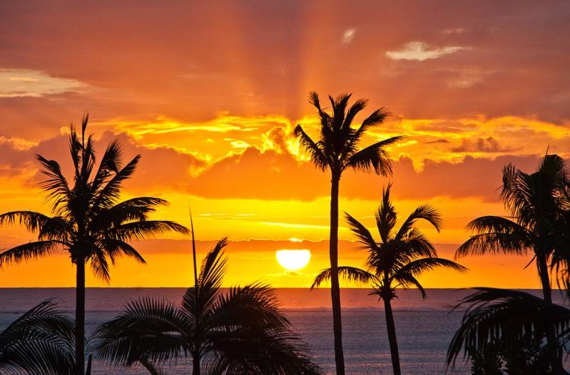 Закат. Маврикий. Фото