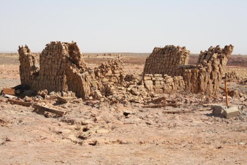 поселение Даллол (Эфиопия). Фото / settlement Dallol (Ethiopia). Photo