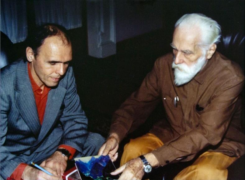 Ильдар Ханов и Святослав Рерих. Фото / Ildar Khanov, Svetoslav Roerich. Photo
