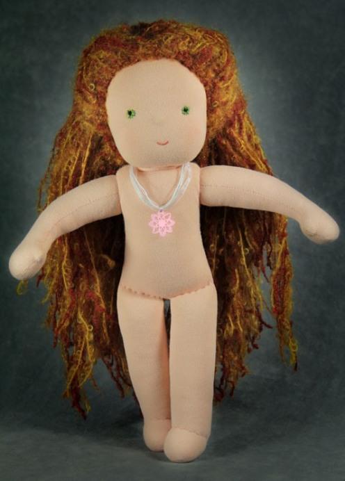 Вальдорфская кукла без одежды.