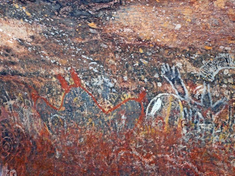 Наскальные рисунки горы улуру айерс