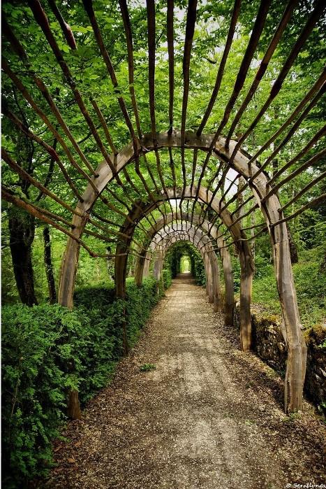 Висячие сады замка Маркизъяк в Везаке (департамент Дордонь). Фото