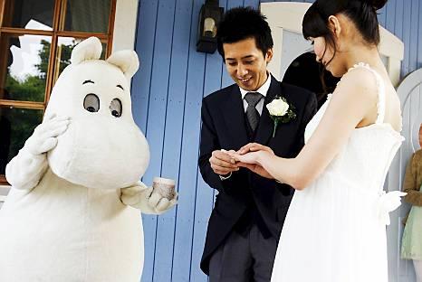 Японская свадьба в Стране муми-троллей. Фото / Moomin World. Photo