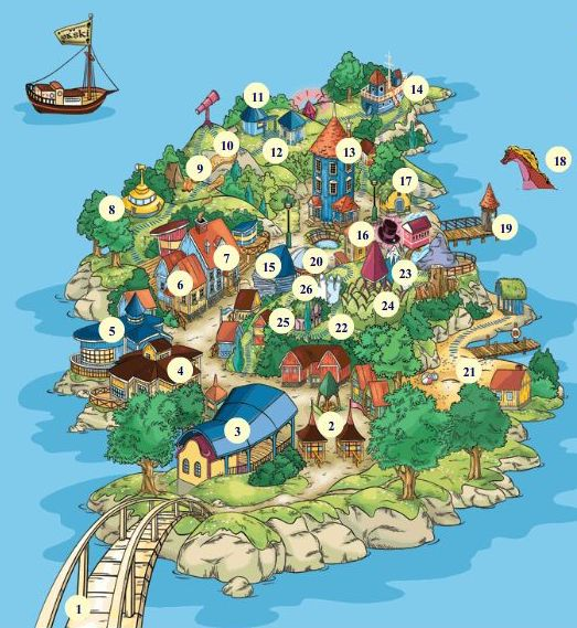 Карта Страны муми-троллей. Фото / Moomin World. Photo