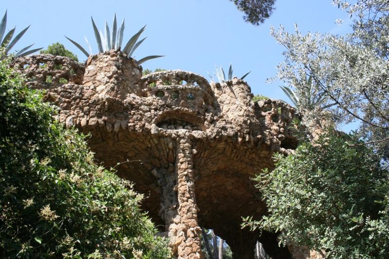 Творение Антонио Гауди - Парк Гуэля в Барселоне (Испания). Фото