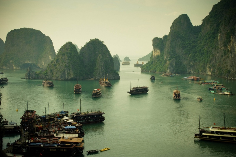 Halong Bay (Vietnam).  Foto / Ha Long Bay.  foto