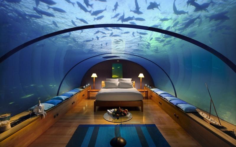 Подводный отель на Мальдивах. Фото