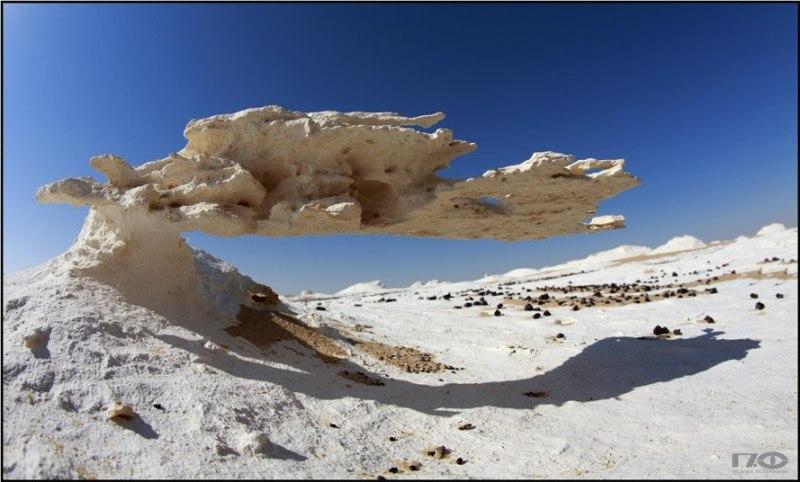 Белая пустыня в Египте. Фото причудливых камней