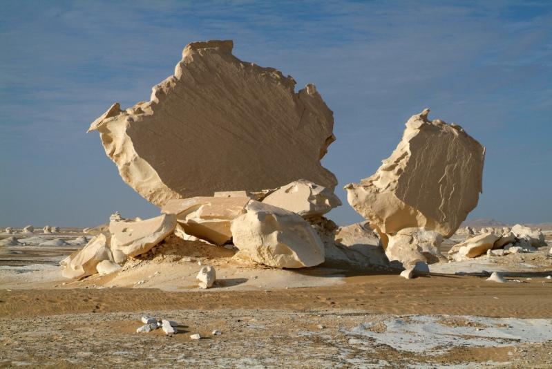 Белая пустыня в Египте. Необычный пейзаж. Фото