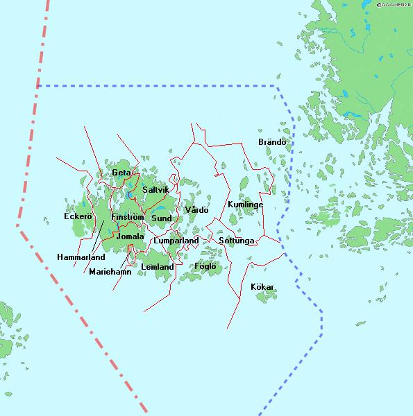 Аландские острова. карта