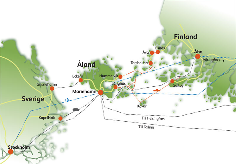 Остров Аланд на карте. Фото