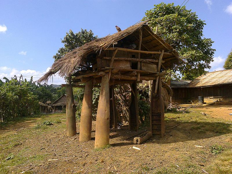 Деревни вблизи Долины кувшинов в Лаосе. Фото