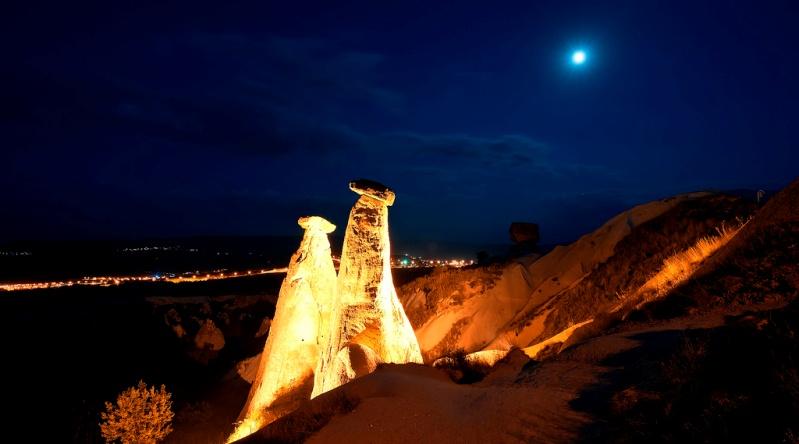 Каменные грибы Каппадокии. Турция. Фото