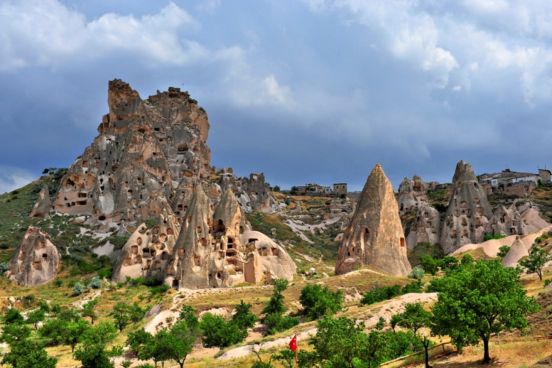 Крепость Учхисар в Каппадокии. Турция. Фото