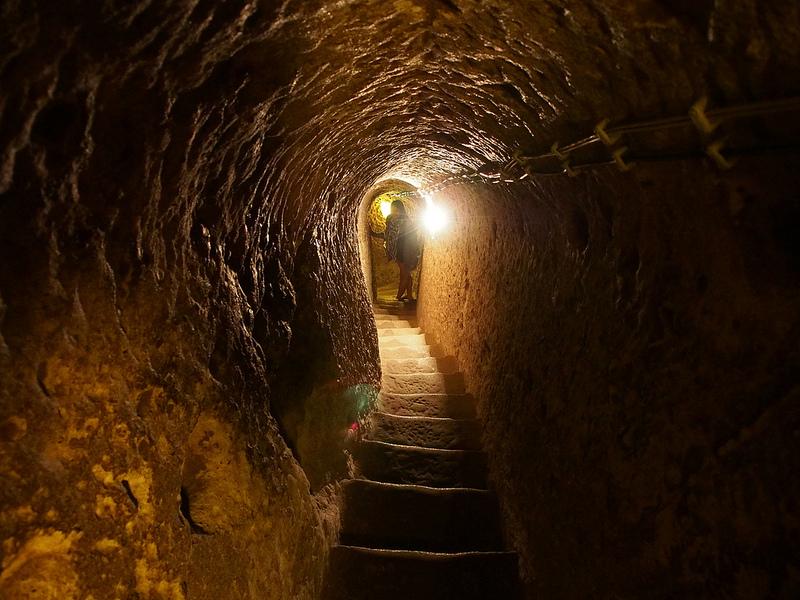 Подземный город Деринкую в Каппадокии. Турция. Фото
