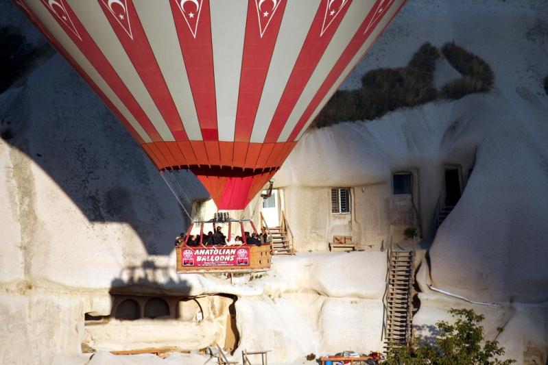 Жилища в скалах Каппадокии. Турция. Фото