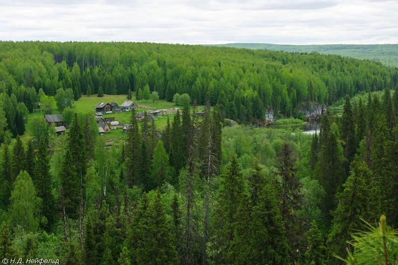 Кордон Шежым на реке Печора в лесах Республики Коми. Фото