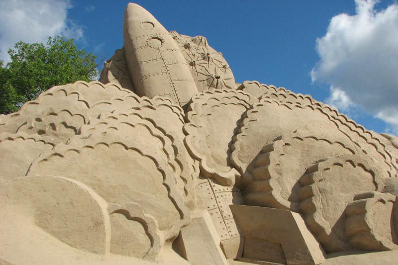 скульптура из песка, Лаппеенранта, Финляндия. фото