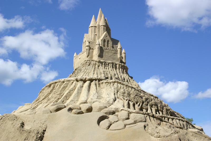 замок из песка, Лаппеенранта, Финляндия. фото