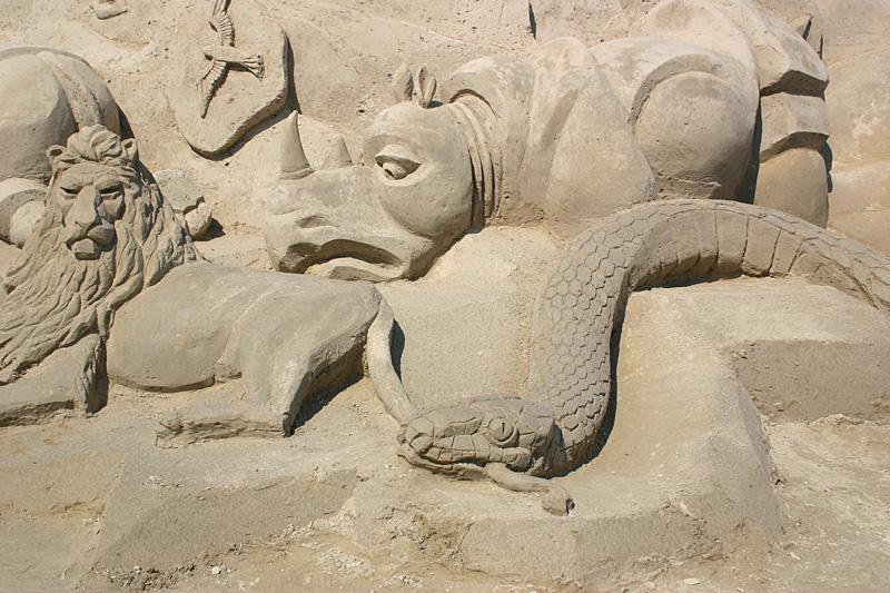 скульптуры из песка, Лаппеенранта, Финляндия. фото